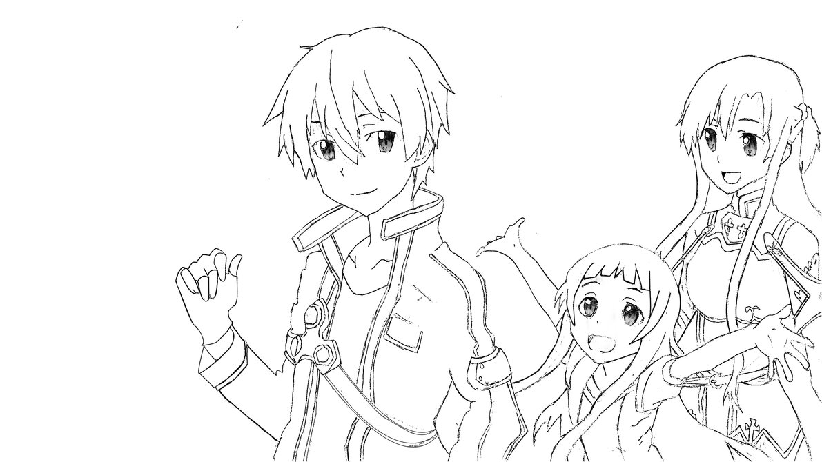 1191x670 Anime Coloring Pages Sword Art Online Fun Coloring Pages