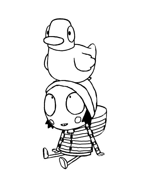 Sarah and duck coloring pages | 792x612