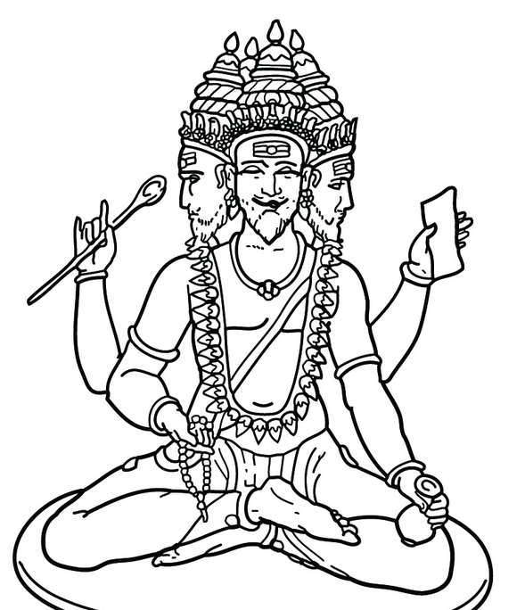 Saraswati Coloring Pages