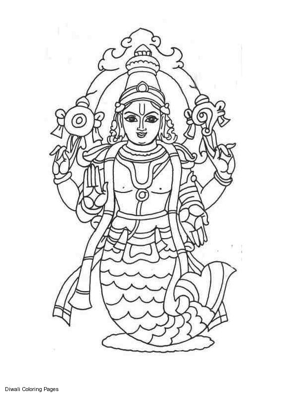 600x800 Indian Gods Coloring Sheets