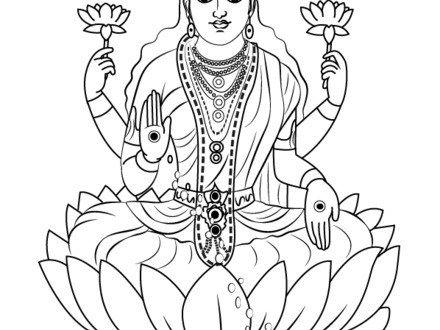 440x330 Saraswati Coloring Pages
