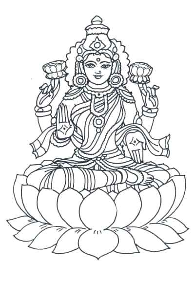 400x577 Saraswati Coloring Pages