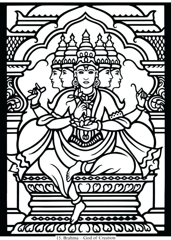 564x790 Coloring Saraswati Coloring Pages Mythology S And Printable
