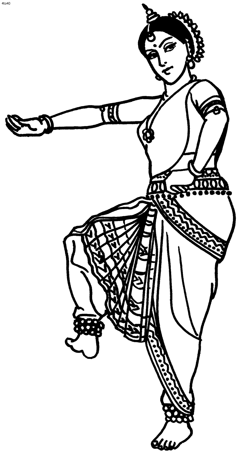 800x1492 Fresh Bharatanatyam Coloring Pages Saraswathi Design Great