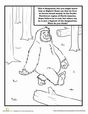 Sasquatch Coloring Page