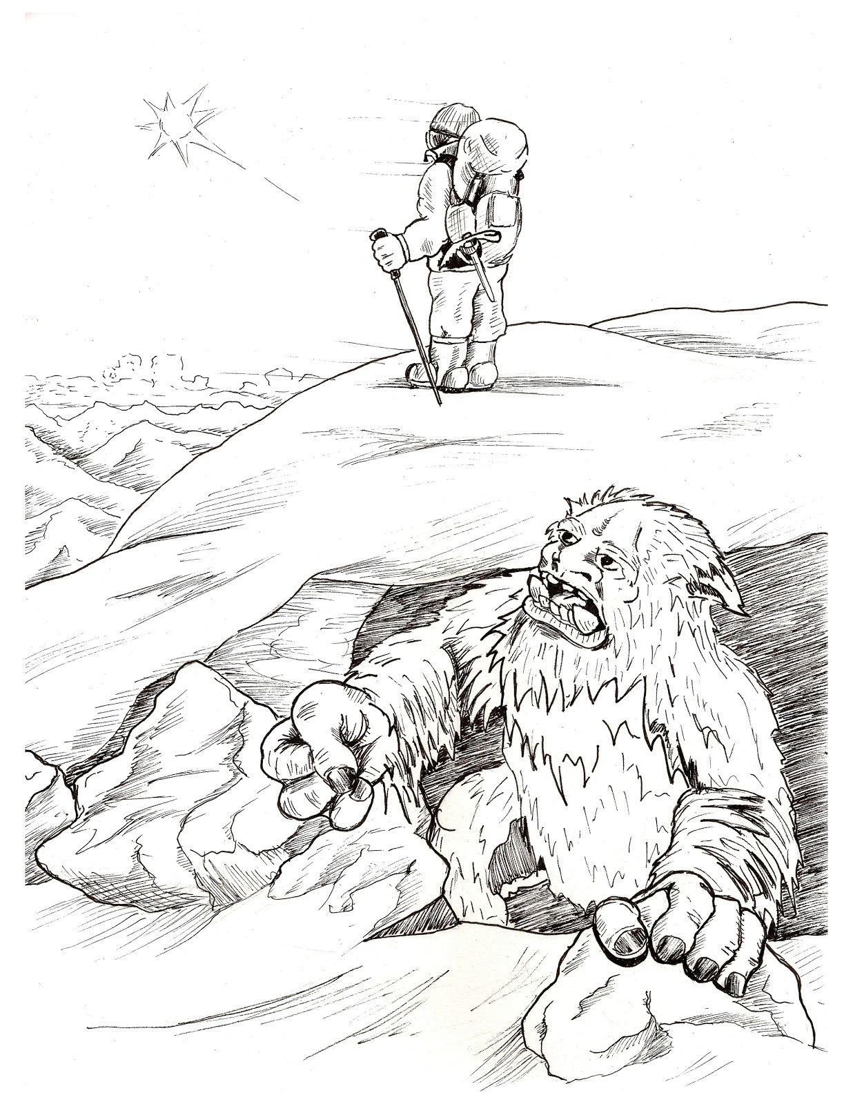 1236x1600 Exelent Bigfoot Coloring Pages Component