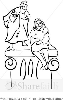 247x388 Satan Tempts Jesus Temptation Of Christ Clipart