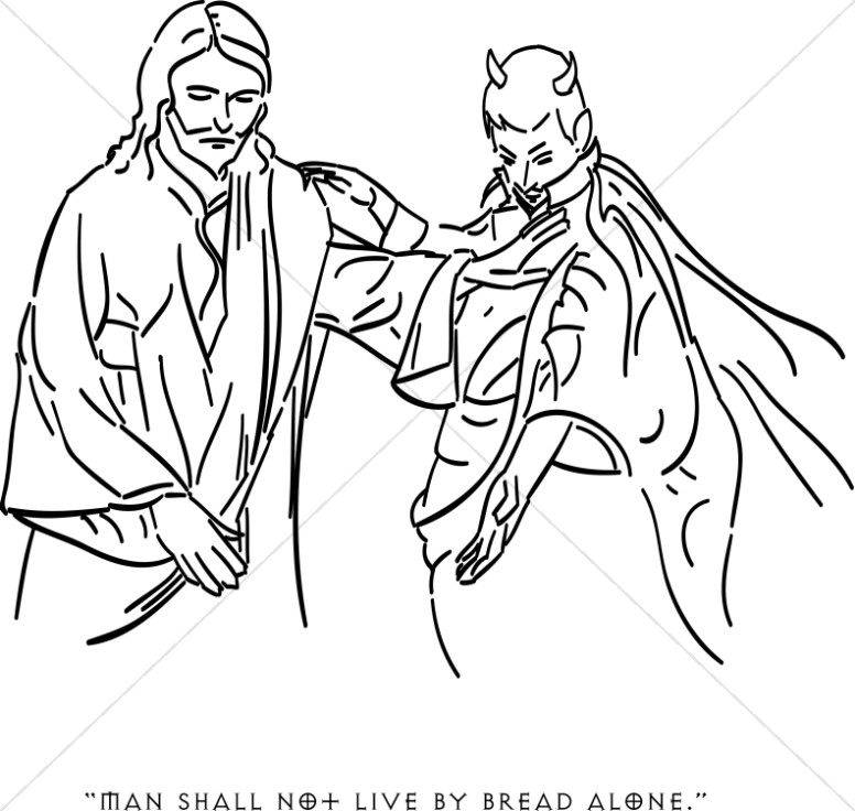 776x736 Satan Tempts Jesus With Earthly Riches Temptation Of Christ Clipart
