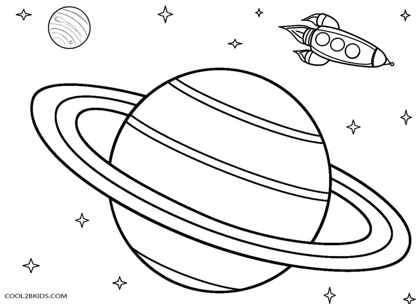 850x615 Saturn Coloring Page Printable Planet Coloring Pages For Kids