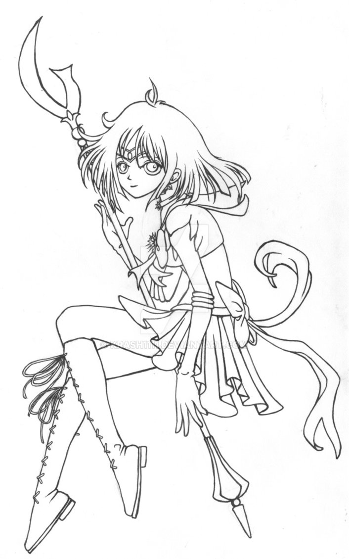 706x1130 Rare Sailor Saturn Coloring Pages Commish Lines