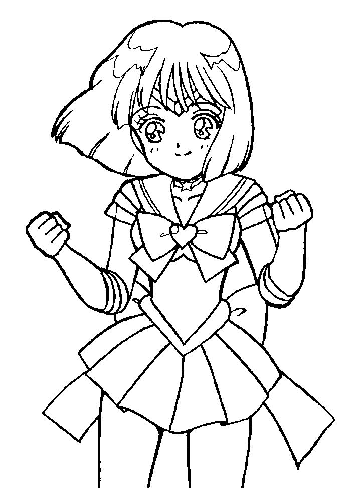700x974 Sailor Saturn Cute Sailor Moon Coloring Pages