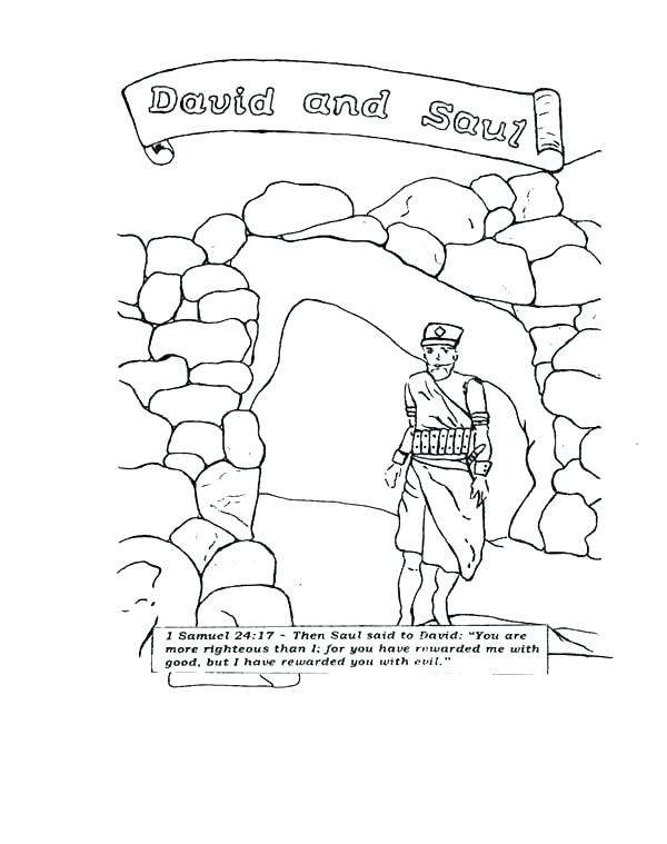 600x759 King Saul Coloring Page Wisdom King King Saul And Samuel