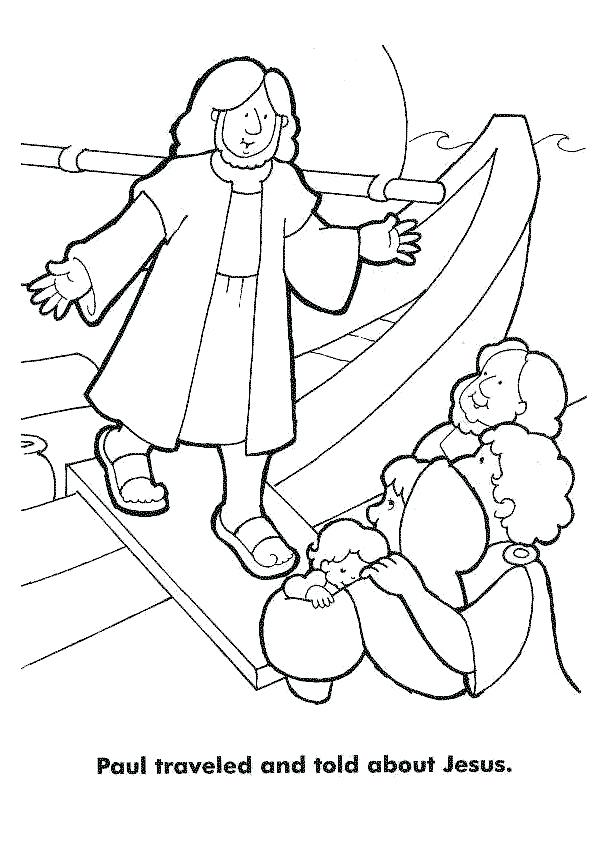 613x863 Saul Becomes Paul Coloring Pages Acts Third Journey Traveled Told