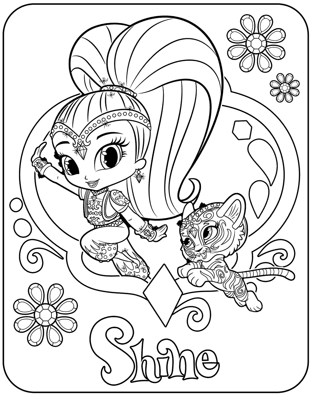 1024x1300 Shimmer And Shine Coloring Pages Pdf Collection Coloring