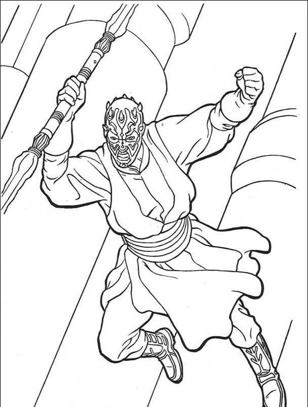 607x802 Darth Maul Coloring Pages