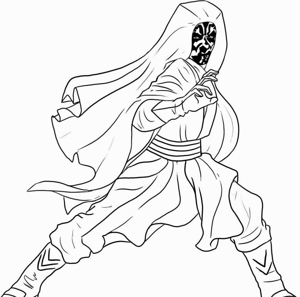 994x985 Informative Darth Maul Coloring Page Star Wars Savage Opress