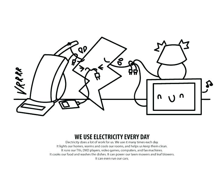 736x568 Colouring Pages Of Save Electricity Games Puzzles And Activities