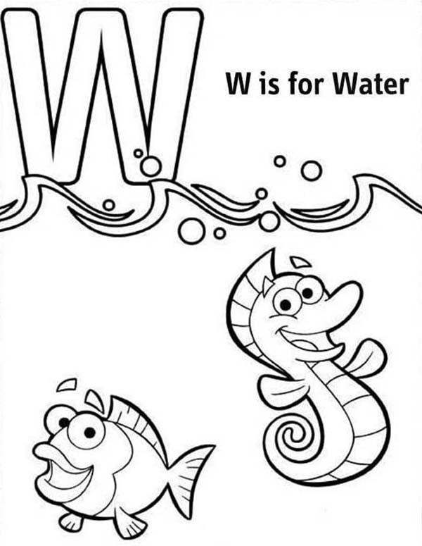 600x775 Save Water Coloring Pages