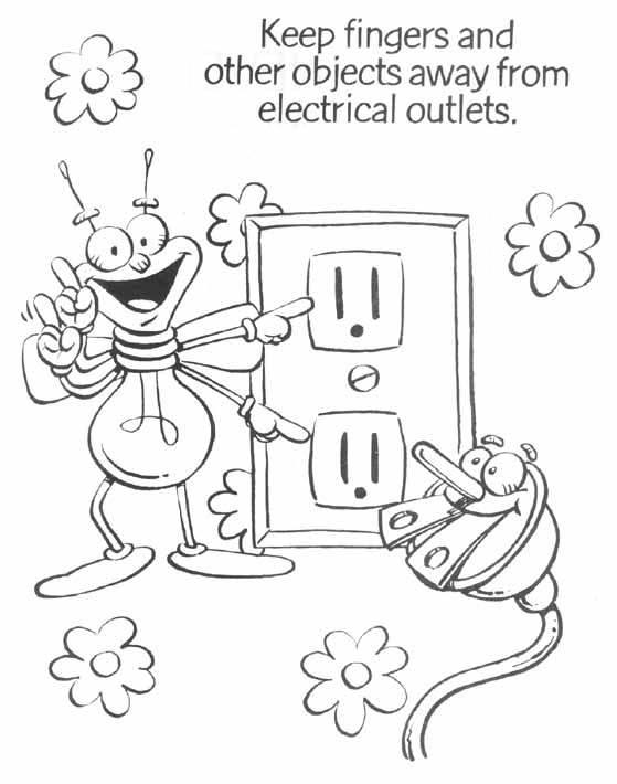 Save Electricity Coloring Pages At Getdrawings Com Free For