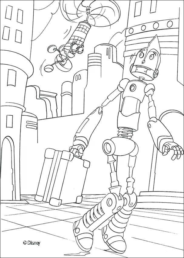 607x850 Robot Coloring Pages Playing Saxophone In The Robot Corporation