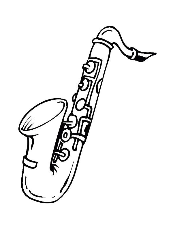 600x800 Coloring Page Musical Instruments
