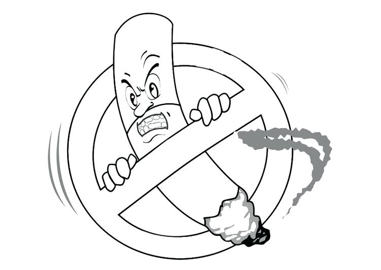750x531 Say No To Drugs Coloring Pages Say No Smoking Coloring Pages