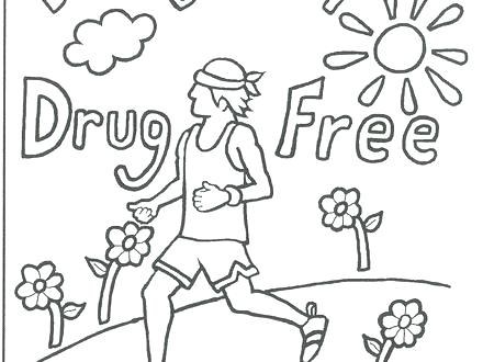 440x330 Free No Smoking Coloring Pages Sheets People Doing Drugs Stand Up