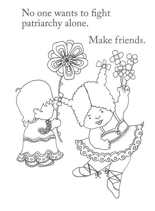 500x680 Feminist Coloring Pages People Power Coloring Pages