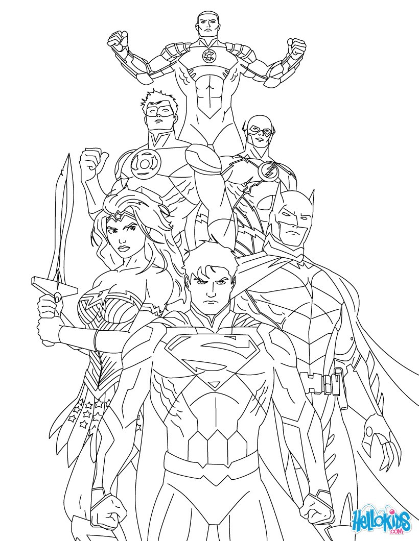 820x1060 Justice League Coloring Pages To Print