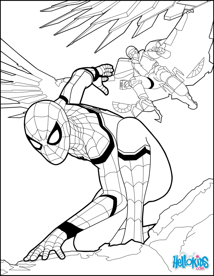 820x1060 Spider Man Coloring Pages