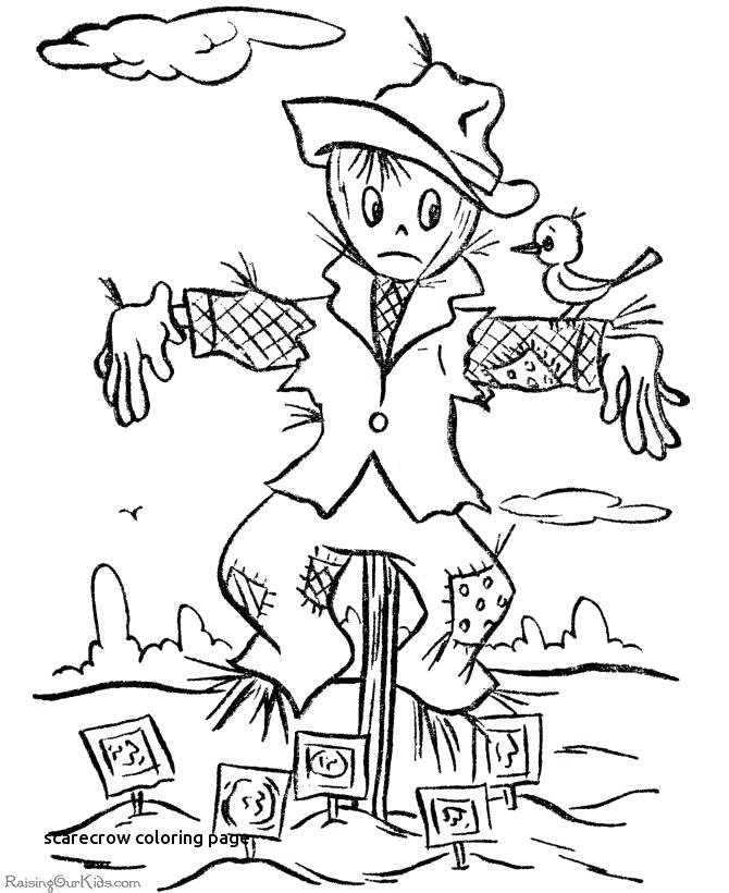 670x820 Scarecrow Coloring Page Scarecrow Coloring Pages Scarecrow