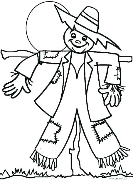 453x612 Scarecrow Coloring Pages Coloring Page Scarecrow Scarecrow