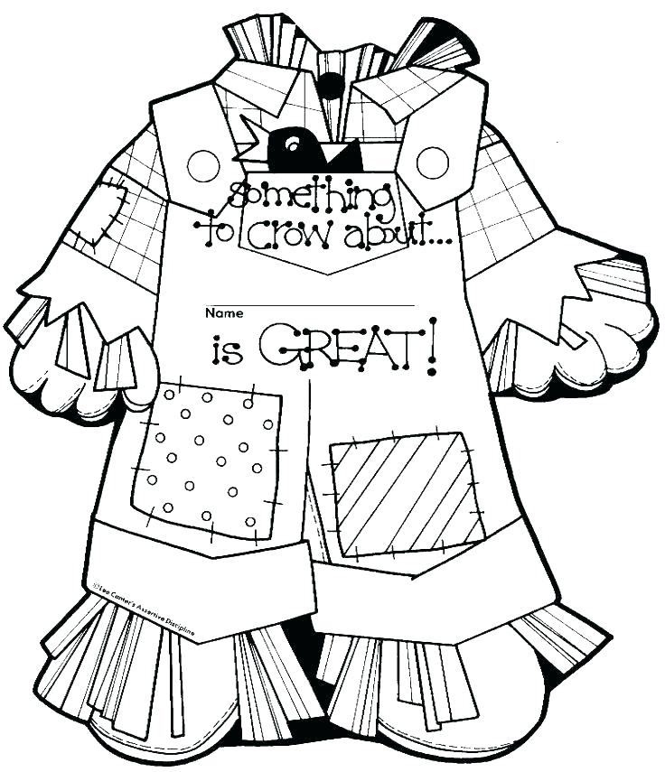 736x855 Free Scarecrow Coloring Pages Scarecrow Coloring Page Scarecrow