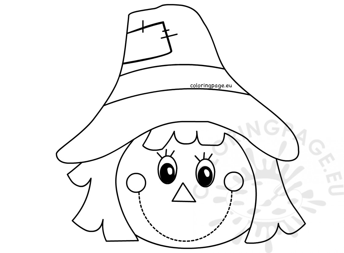 Scarecrow Head Coloring Pages