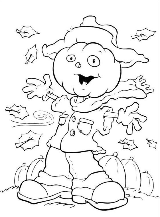 561x759 Halloween Coloring Pages Scarecrow