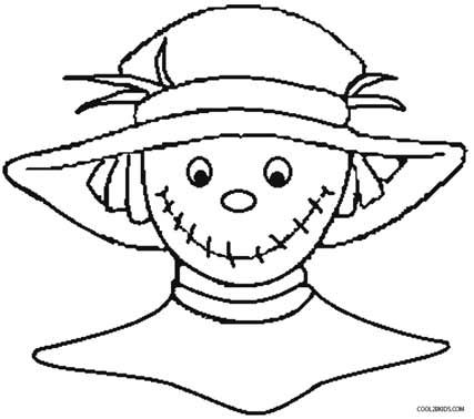 427x378 Printable Scarecrow Coloring Pages For Kids