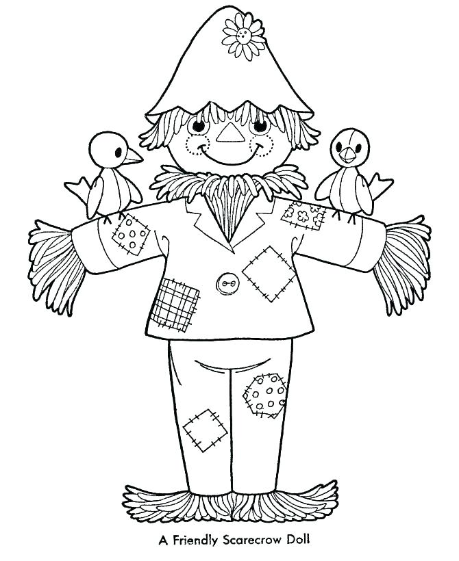 670x820 Scarecrow Coloring Page Scarecrow Coloring Page Perfect Pages