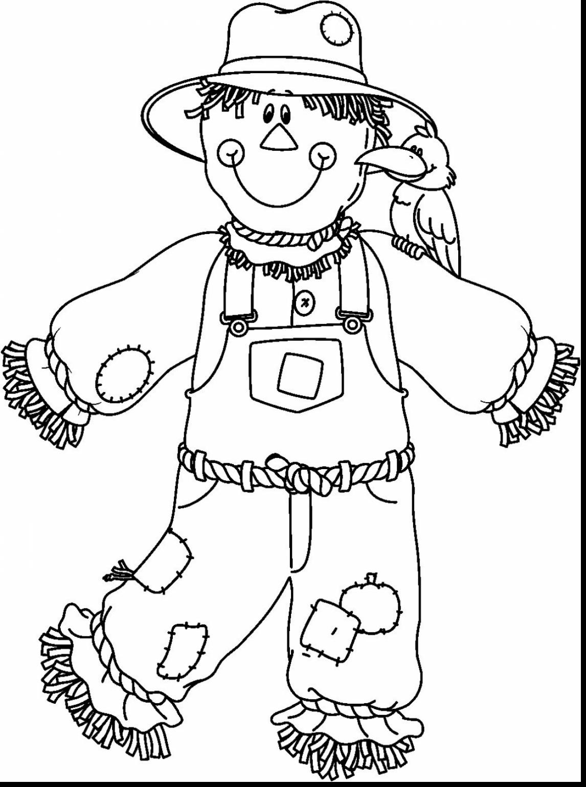 1146x1540 Scarecrow Coloring Pages