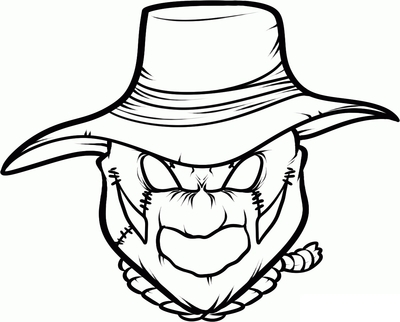 400x322 Scarecrow Coloring Pages Printables Page Image Clipart Images
