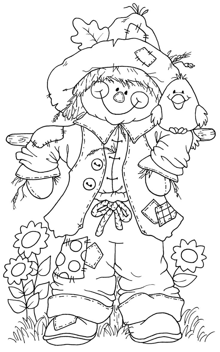 736x1174 Scarecrow Coloring Pages To Print Coloring For Kids