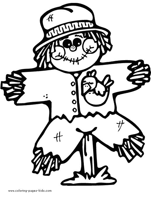 517x678 Scarecrow Pictures To Colour The Best Scarecrow Coloring Pages