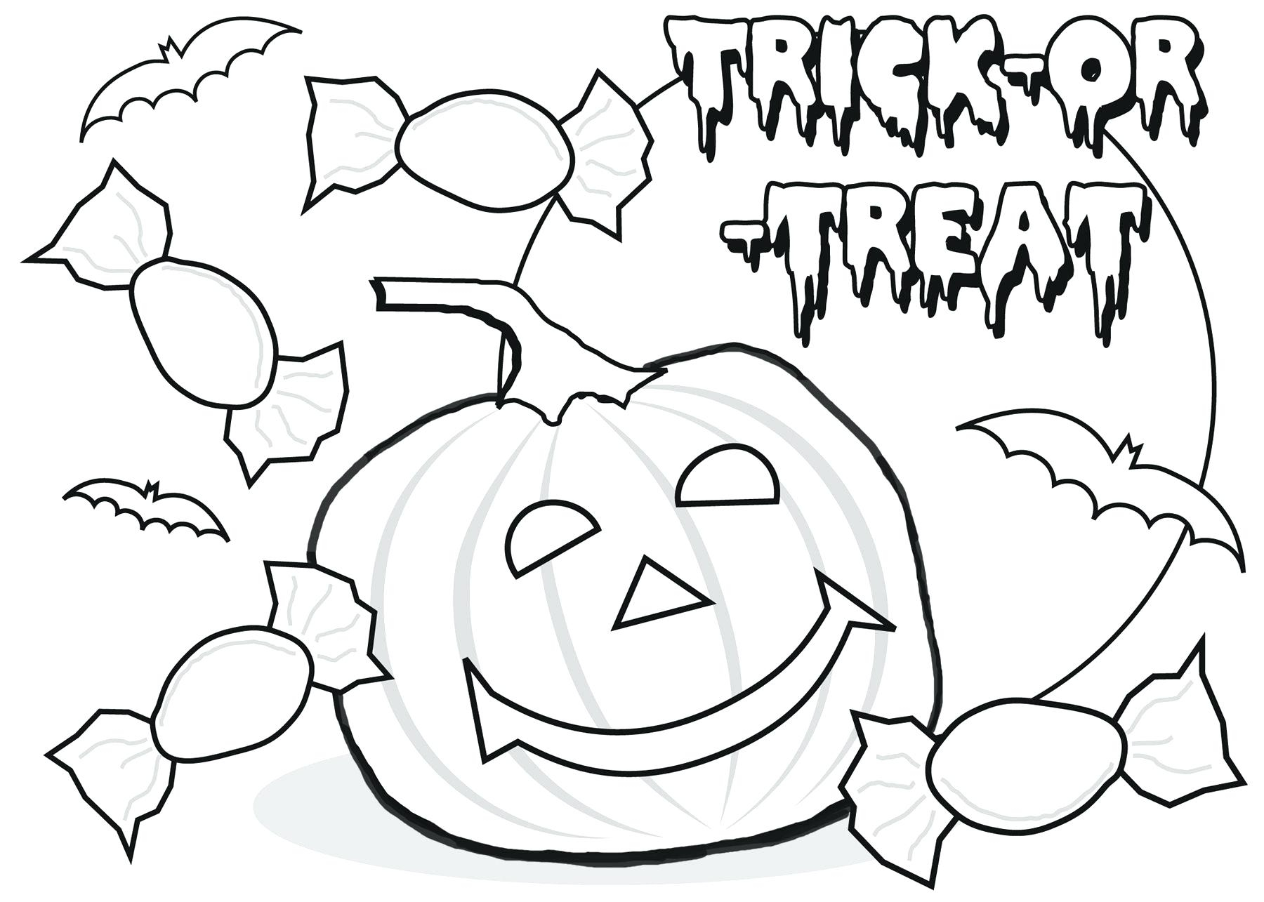 1800x1285 Scarecrow With Pumpkin Jack O Lantern Coloring Page Halloween