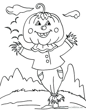 363x470 Free Printable Scarecrow Coloring Pages