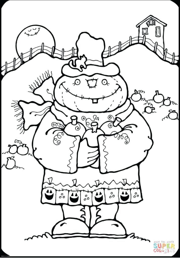 714x1024 Free Scarecrow Coloring Pages Easy Scarecrow Coloring Page Free