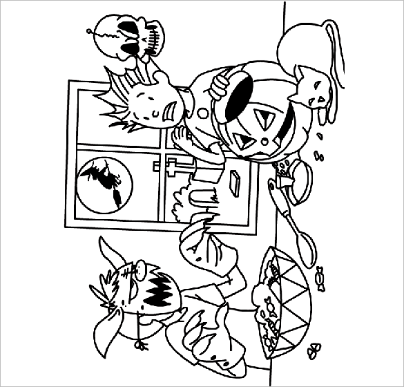 Scared Face Coloring Pages