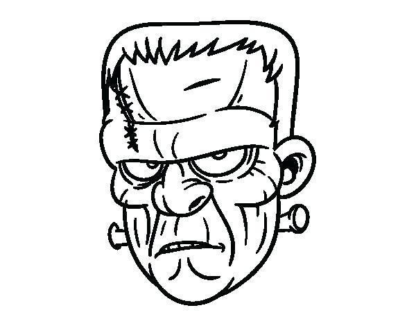600x470 Frankenstein Coloring Pages Coloring Page Face Coloring Page