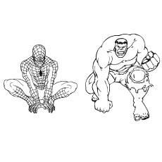 230x230 Spiderman Vs Hulk Drawing