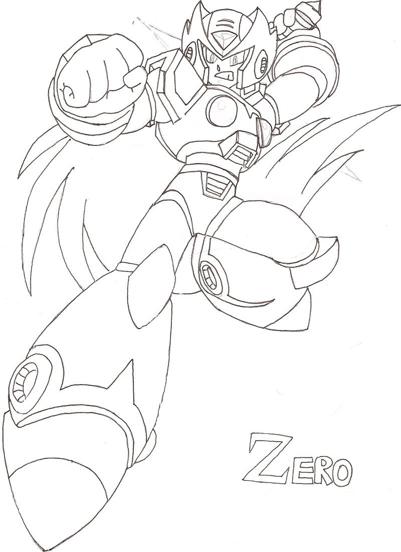 800x1101 Zero From Megaman Coloring Pages Bigking Keywords And Pictures