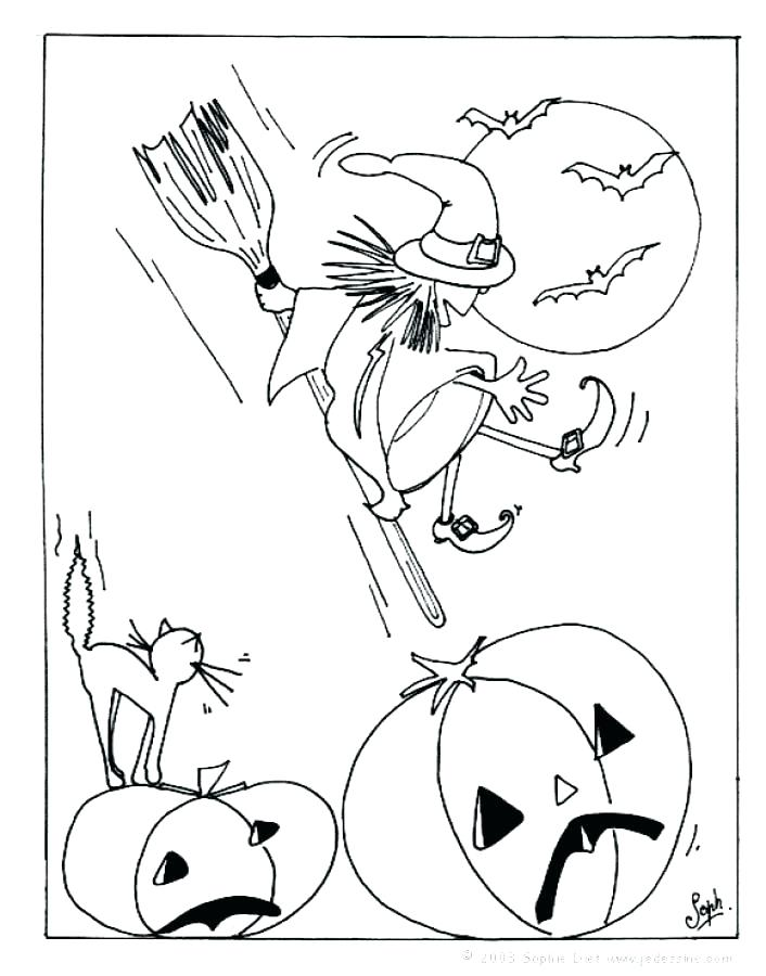 706x900 Witch Coloring Page Happy Witch Rides Broom Cute Witch Coloring
