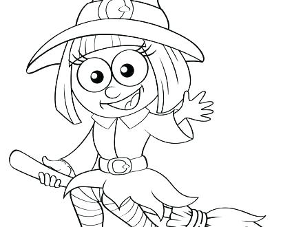 440x330 Witch Coloring Pages Witch Face Coloring Pages Cute Witch Coloring